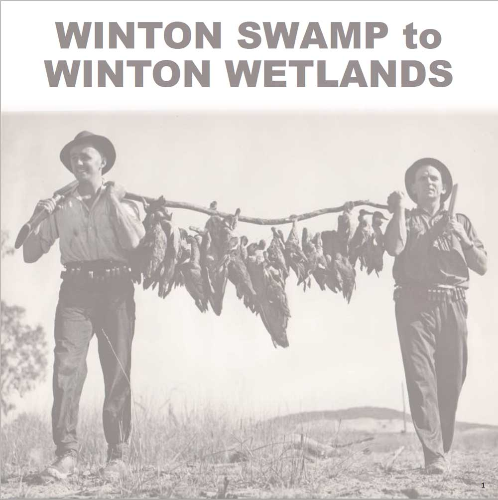 Book cover Winton Swamp to Winton Wetlands