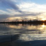 Sunset at Winton Wetlands - photo by H Repacholi
