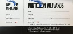 Winton Wetlands gift voucher