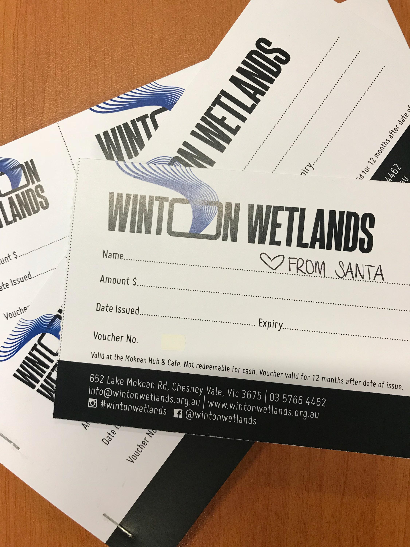 Winton Wetlands gift voucher - Christmas