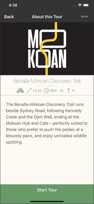Benalla Mokoan Discovery Trail screenshot