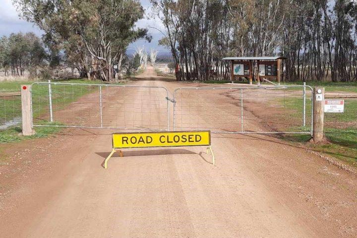 Winton Wetlands Roads Closed